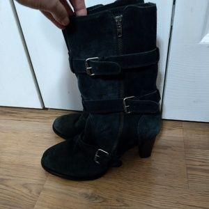 JCrew Suede charcoal ankle boots